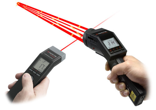 Innovative handheld pyrometer with laser sighting